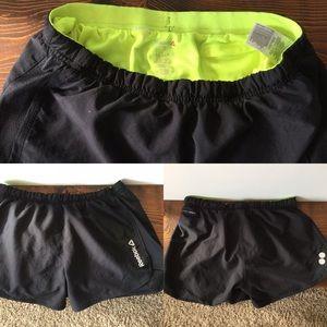 Black Reebok athletic shorts